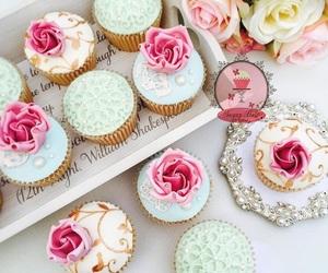 birthday, cupcakes, and flowers image