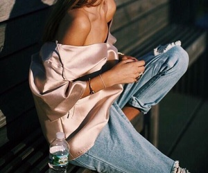 70s, beautiful, and jeans image