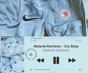 blue, cry baby, and wallpaper image