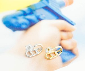 pearl earring, stud earrings, and earcuff image