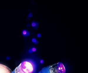 bokeh, purple, and led image