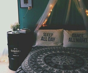bed, chanel, and room image