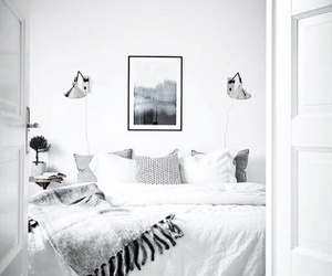 bedroom, white, and decor image