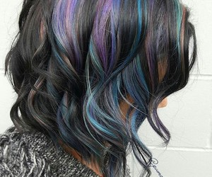 beautiful, colorful, and dyed hair image