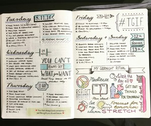 idea, inspiration, and bullet journal image