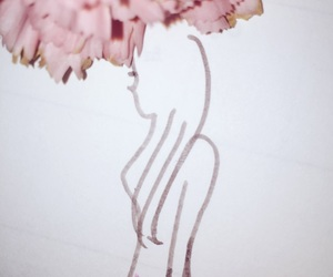 flower, 女, and maternity image