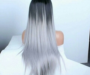 grey, long, and hair image