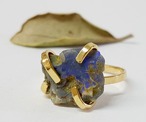 etsy, gift for her, and raw opal ring image