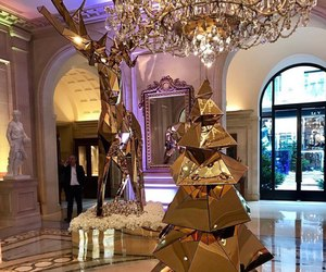 christmas, luxury, and gold image