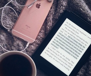 book, iphone, and kindle image