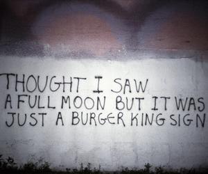 full moon, graffiti, and grunge image