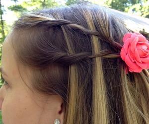blonde, braids, and fashion image
