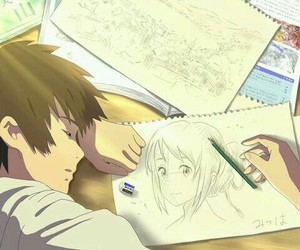 anime, anime couple, and kimi no na wa image