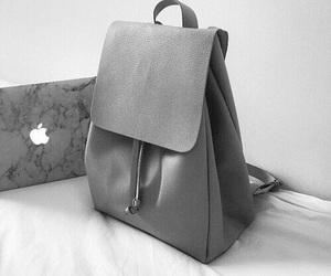 apple, bag, and grey image