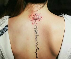 back tattoo, black, and fashion image