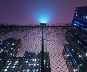 city, grunge, and light image