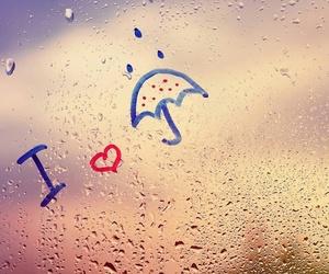 rain, love, and window image