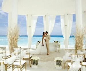 wedding, love, and beach image