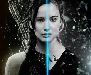 divergent, katniss, and hunger games image