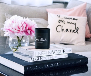 flowers, chanel, and book image