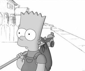bart and black and white image