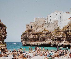 beach, italy, and nostalgic image