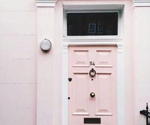 pink, door, and pastel image
