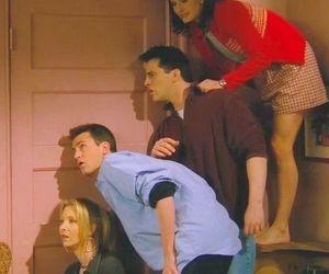 chandler, door, and Joey image