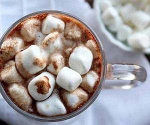 chocolate, hot chocolate, and marshmallow image
