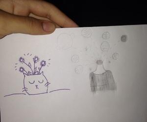 desenho, draw, and estranha image