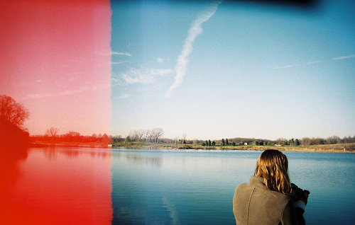 35mm, girl, and lake image