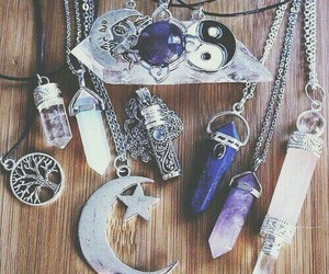 crystal, crystal necklace, and necklace image