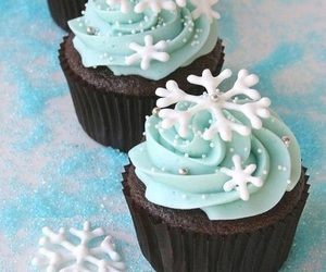 cupcake, food, and winter image