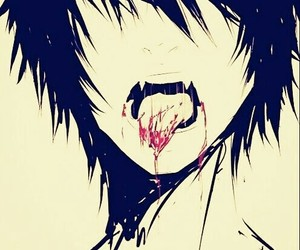 blood, vampire, and anime image