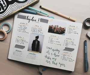 inspiration, notes, and bullet journal image