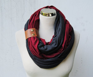 chunky scarf, fashion scarf, and infinity scarf image
