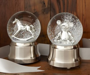 horse, snow globe, and snowball image