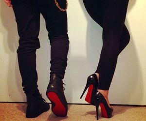 couple, shoes, and black image