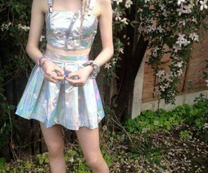 pale, grunge, and holographic image
