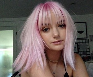 aesthetic, pink hair, and style image