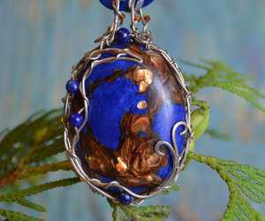 etsy, wire wrapped stone, and gemstone necklaces image
