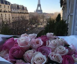 paris, flowers, and rose image
