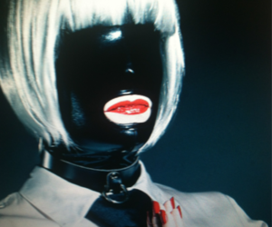 cool, red lips, and pervy image