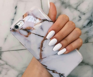 nails, iphone, and white image
