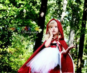 child, red, and sweet image