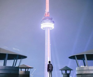 canada, CN tower, and night image