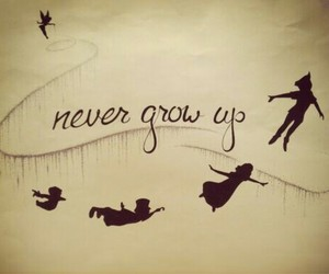 disney, never, and grow_up image