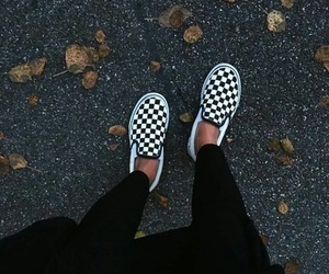 girl, vans, and shoes image
