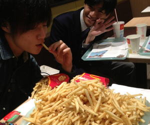 food, fries, and asian boys image