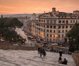 rome, travel, and sunset image